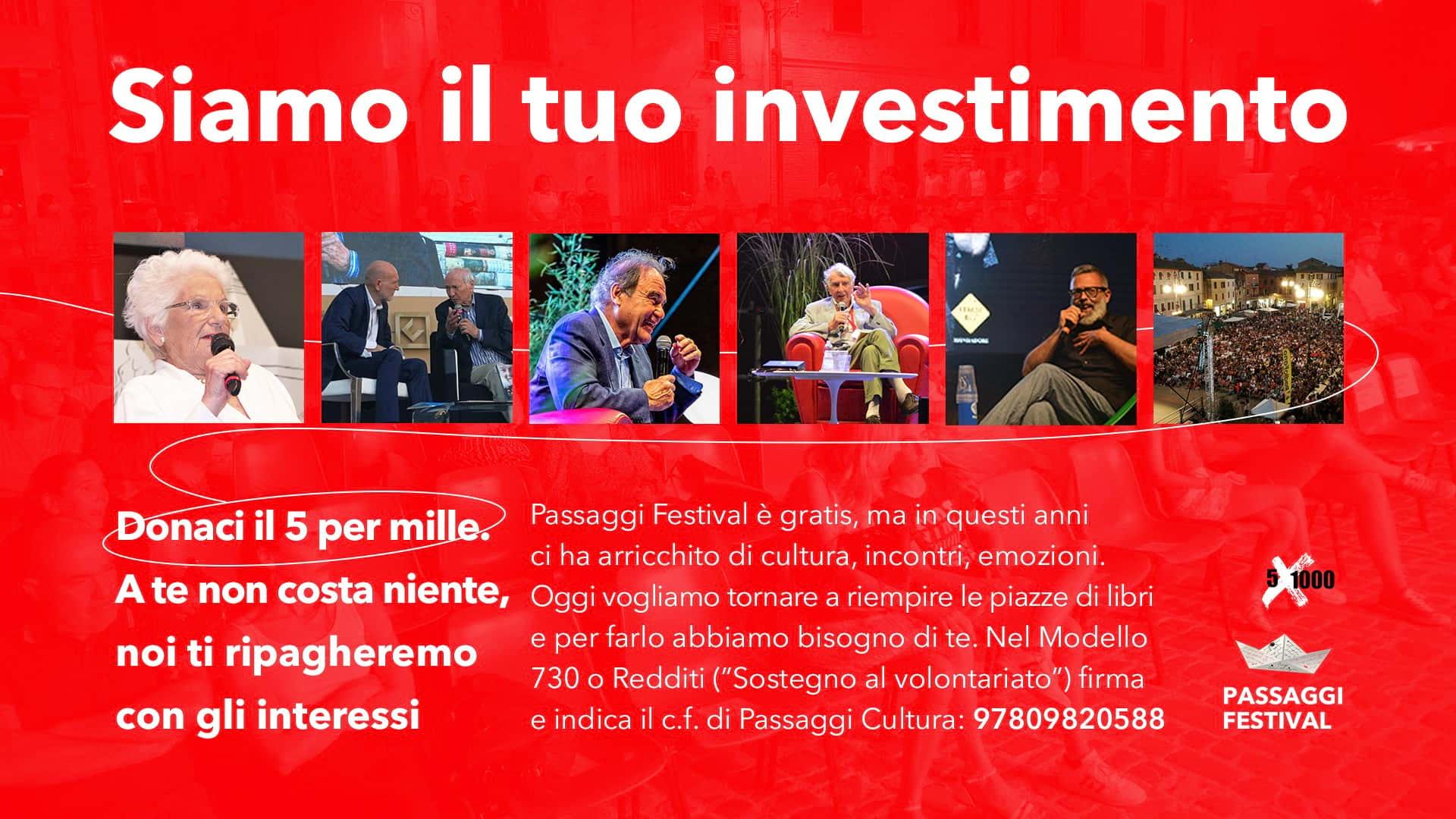 dichiarazione redditi 5x1000 a Passaggi Festival